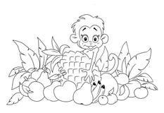 обезьяна плодоовощ иллюстрация штока