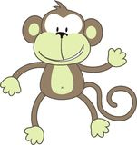 обезьяна приветствию иллюстрация вектора