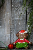 Обезьяна пряника рождества Стоковые Фото