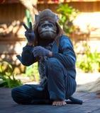 обезьяна танцульки barong balinese актера Стоковое Изображение RF