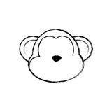обезьяна шаржа милая иллюстрация штока