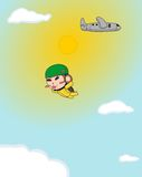 Обезьяна skydiving Стоковые Фото