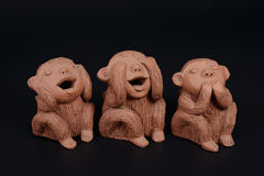 3 обезьяны Стоковое Фото