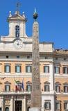 Обелиск Montecitorio в Риме Стоковые Изображения RF