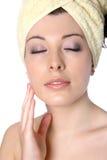 обернутая женщина волос Стоковое Изображение RF