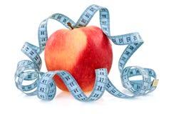 обернутая лента измерения яблока голубая Стоковое Фото