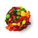 обернутая фольга покрашенная конфетой стоковое изображение