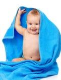 обернутое полотенце голубого ребенка милое Стоковые Фото