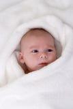 обернутое полотенце младенца Стоковые Фото