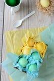 Обернутые тканью пасхальные яйца Стоковое Изображение