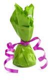 обернутый зеленый цвет конуса шоколада конфеты Стоковая Фотография RF