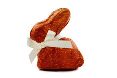 обернутый красный цвет зайчика поставленный точки шоколадом Стоковые Фотографии RF