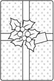 Обернутый подарок рождества иллюстрация вектора