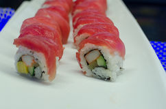 Обернутый рис суш мяса тунца Стоковая Фотография RF