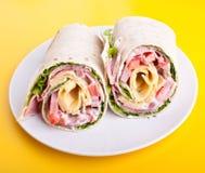 обернутый tortilla сандвича кренов Стоковое Изображение RF