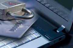 обеспеченность интернета компьютера Стоковая Фотография