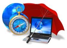 обеспеченность интернета принципиальной схемы Стоковая Фотография RF
