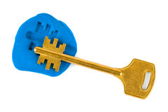обеспеченность ключа впечатления принципиальной схемы Стоковые Фотографии RF