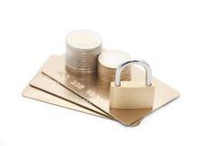 обеспеченность компенсации кредита карточки Стоковые Изображения