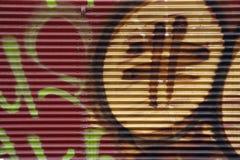 обеспеченность надписи на стенах двери Стоковое фото RF