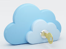 обеспеченность облака вычисляя Стоковое Изображение RF