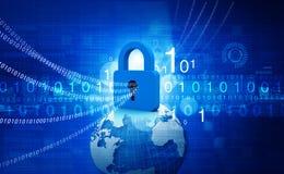 обеспеченность перевода интернета принципиальной схемы 3d Стоковое Фото
