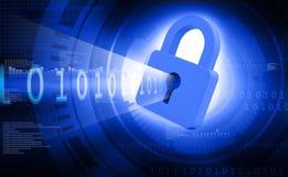 обеспеченность перевода интернета принципиальной схемы 3d Стоковые Фотографии RF