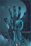обеспеченность фингерпринта принципиальной схемы цифровая Стоковое фото RF