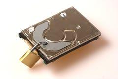 обеспеченность padlock диска данных трудная Стоковая Фотография