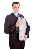 обеспеченный бизнесмен Стоковые Изображения RF
