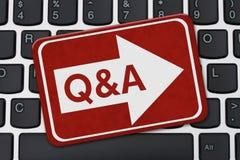 Обеспечивать Q&A для вашего дела на интернете Стоковые Изображения