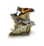 Обесцениванный доллар стоковое изображение rf