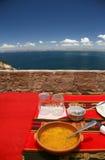 Остров Taquile, типичная еда Стоковые Изображения