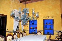 обедать комната крупного поместья Стоковая Фотография