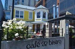 Обедать & кофейня вилл в Крайстчёрче - Новой Зеландии стоковое изображение rf