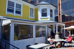 Обедать & кофейня вилл в Крайстчёрче - Новой Зеландии стоковая фотография rf