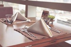 обедать отлично установленная таблица Стоковое Изображение