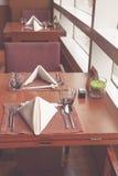 обедать отлично установленная таблица Стоковая Фотография