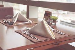 обедать отлично установленная таблица Стоковые Изображения RF