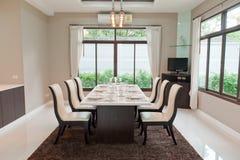 обедать роскошная комната Стоковое фото RF