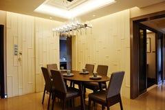 обедать самомоднейшая комната Стоковое Изображение