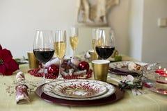 Обедать таблица рождества Стоковая Фотография