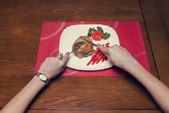 обедать Стоковое Изображение
