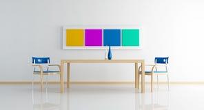 обедать mimal белизна комнаты Стоковая Фотография RF