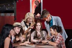 Обедающие тележки еды Стоковые Изображения RF