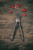 Обедающий валентинок Стоковое Изображение