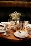 Обедающий в ресторане Стоковая Фотография