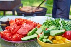 Обедающий в саде Стоковые Фото