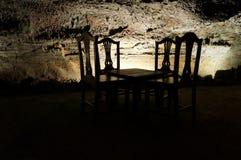 Обедающий в темноте Стоковое Изображение