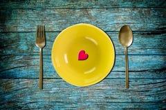 обедающий влюбленности Стоковые Изображения